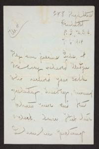 Letter from Mary Woolley to Jeannette Marks, 1904 July 6