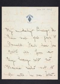 Letter from Mary Woolley to Jeannette Marks, 1904 December 28