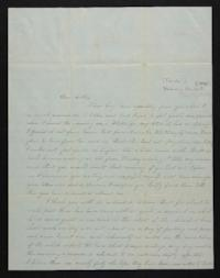 Letter from Mary Atwood to Harriet Atwood, circa 1848 December 24