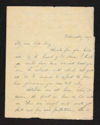 Letter from Julia Hyde to Lucy Goodale, circa 1837
