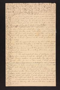 Letter from Julia Hyde to Abby B. Hyde, circa 1838 February 10