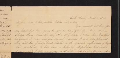Letter from Julia Hyde to Rev. Lavius Hyde, 1838 March 02