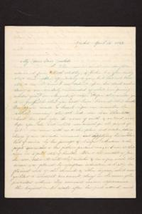 Letter from Abby B. Hyde to Millicent W. Goodale