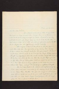 Letter from Julia Hyde to Millicent W. Goodale, 1842 July 21