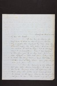 Letter from Julia Hyde to Millicent W. Goodale, 1848 March 21