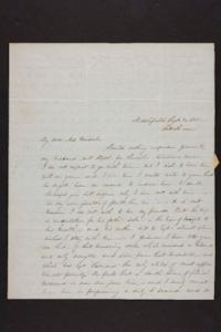 Letter from Julia Hyde to Millicent W. Goodale