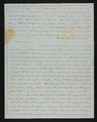 Letter from Margaretta Huntting to Laura D. Howell, 1847 March 28
