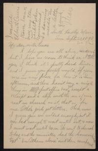 Letter from Helen Newton to her sister