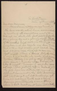 Letter from Helen Newton to her mother, 1896 September 28