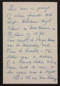Letter from Helen Newton to her friends,1896 October 07