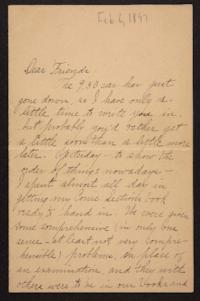Letter from Helen Newton to her friends,1897 February 06