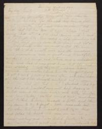 Letter from Helen Newton to her family, 1899 April 23