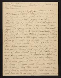 Letter from Helen Newton to her mother, 1900 March 11