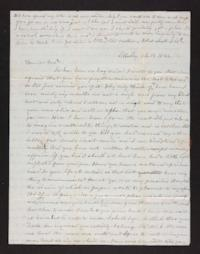 Letter from Mary E. Graves to Edwin Graves, 1846 February 21