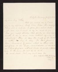 Letter from Mary W. Chapin to Mary Graves