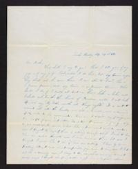Letter from Harriet Landon to Horace Landon
