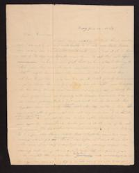 Letter from Caroline LeConte Morris to Mrs. Gershua LeConte,1839 June 25