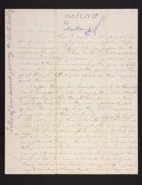 Letter from Caroline LeConte Morris to Mrs. Gershua LeConte,1839 October 22
