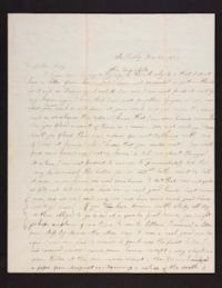 Letter from Caroline LeConte Morris to Mary LeConte,1839 December 25