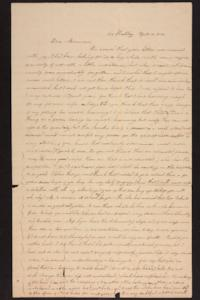 Letter from Caroline LeConte Morris to Mrs. Gershua LeConte,1840 April 16