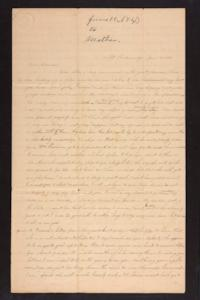 Letter from Caroline LeConte Morris to Mrs. Gershua LeConte, 1840 June 13