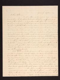 Letter from Caroline LeConte Morris to Mr. William LeConte, 1840 September 14