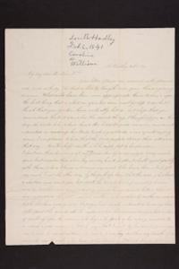 Letter from Caroline LeConte Morris to Mr. William LeConte, 1841 February 06