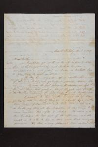 Letter from Mary Quincy Brown to Newman Brown, 1849 April 05