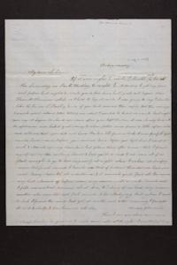 Letter from Mrs. Newman Brown to Mary Quincy Brown, 1849 May 07