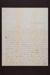 Letter from Mary Quincy Brown to Mrs. Newman Brown, 1849 May 10