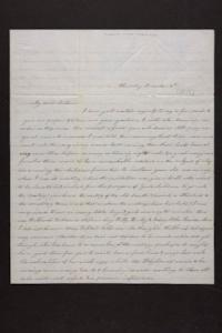 Letter from Mrs. Newman Brown to Mary Quincy Brown, circa 1849 December 06