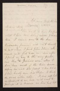 Letter from Susan N. Brown to Mary Quincy Brown