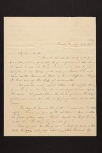 Letter from Mary Quincy Brown to Mrs. Newman Brown, 1850 October 10