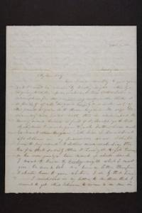 Letter from Mary Quincy Brown to Susan N. Brown, circa 1848 April 11