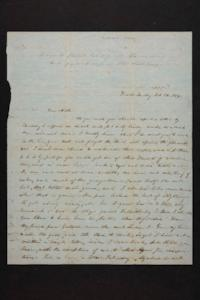 Letter from Mary Quincy Brown and Susan N. Brown to Mrs. Newman Brown, 1848 October 10
