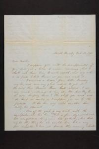 Letter from Susan N. Brown to Newman Brown, 1849 February 22