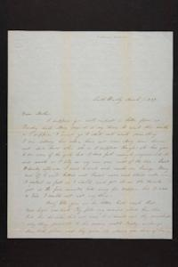 Letter from Mary Quincy Brown and Susan N. Brown to Mrs. Newman Brown, 1849 March 07