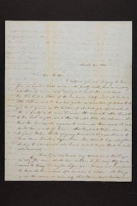 Letter from Mary Quincy Brown to Mrs. Newman Brown, 1849 March 14