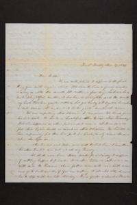 Letter from Mary Quincy Brown to Mrs. Newman Brown, 1849 March 27