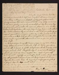 Letter from Lucy Goodale Mary H. Goodale, 1838 April 10