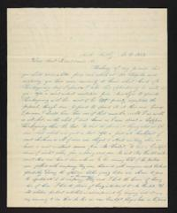 Letter from Rhoda Perkins to Martha K. Bond