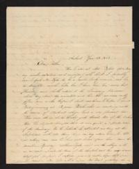 Letter from Rhoda Perkins to Rev. Jonas Perkins,1843 January 25