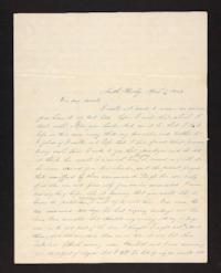 Letter from Rhoda Perkins to Rev. Jonas Perkins,1843 April 5