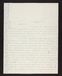 Letter from Lydia Pomeroy to Benjamin Pomeroy, Jr., 1843 January 25