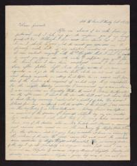 Letter from Lydia Baldwin Phelps to Ezekiel Baldwin,1843 October 18