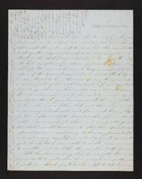Letter from Electa Wing to Mary Lyon, 1846 October 27