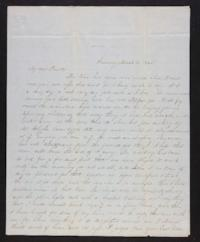 Letter from Jane Scudder to her parents, 1845 March 13