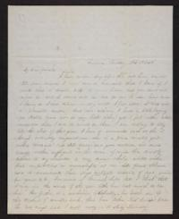 Letter from Jane Scudder to Charles Scudder (father), 1846 February 19