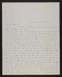 Letter from Jane Scudder to her parents, 1846 March 24