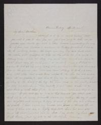 Letter from Jane Scudder to Charles Scudder (brother)